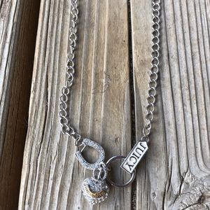 Juicy Couture Silver Pave Multi Charm Necklace!